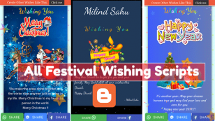 Download All Festival Wishing Script For Blogger 2020 [Updated Scripts]
