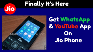 How To Get WhatsApp And YouTube App On Jio Phone