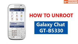 How To UnRoot Samsung Galaxy Chat GT-B5330