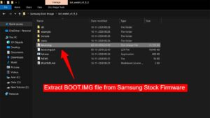 Extract BOOT IMG file from Samsung Stock Firmware