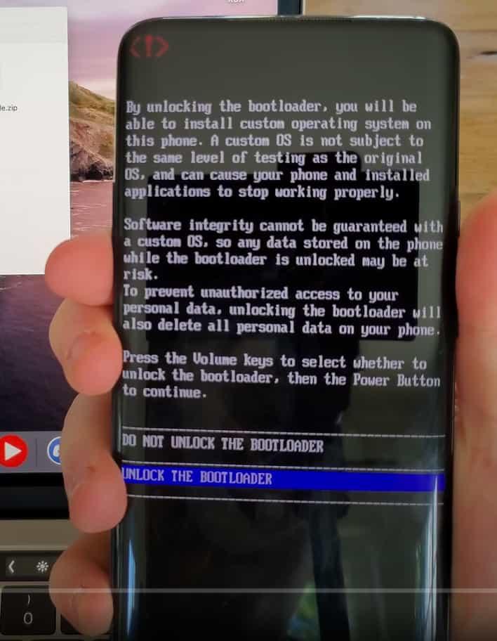 OnePlus Unlock The Bootloader
