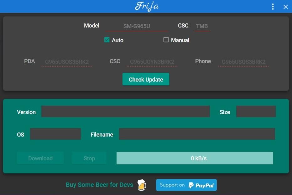 Frija Tool Interface